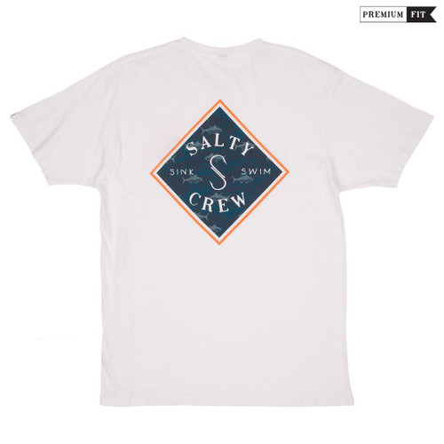 Salty Crew Tee Shirt - Tippet Nomad - White