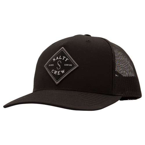 Salty Crew Hat - Sealine Retro Trucker - Black