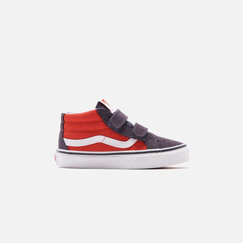 Vans Youth Shoe - Sk8-Mid Reissue V - (2-Tone) Grenadine/Periscope