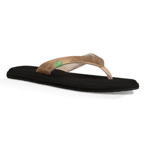 Sanuk Women's Flip Flop - Yoga Chakra Metallic - Rose Gold