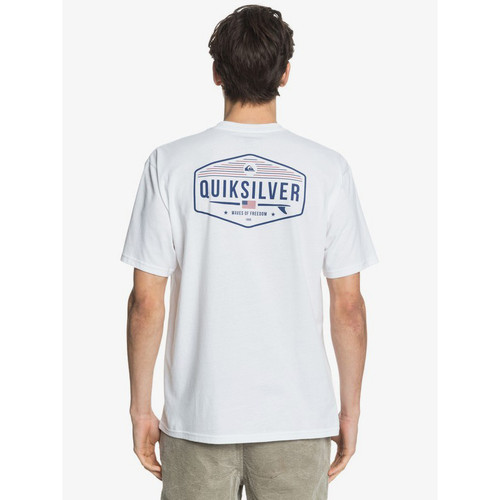Quiksilver Tee Shirt - 4th of July - White