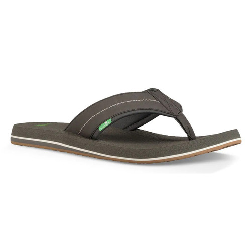 Sanuk Flip Flop - Beer Cozy 2 - Charcoal/Charcoal
