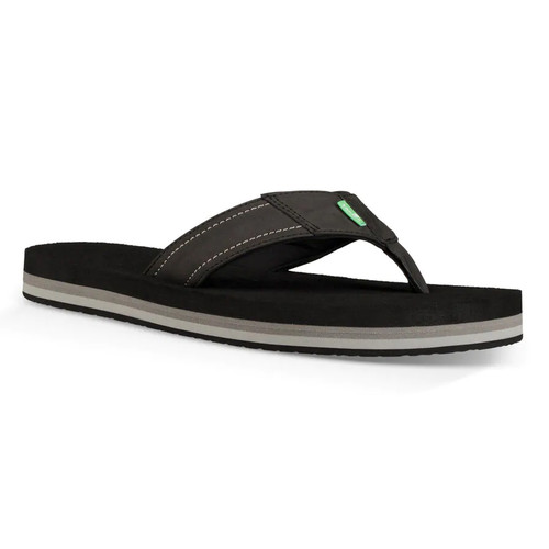 Sanuk Flip Flop - Beer Cozy Stacker - Black