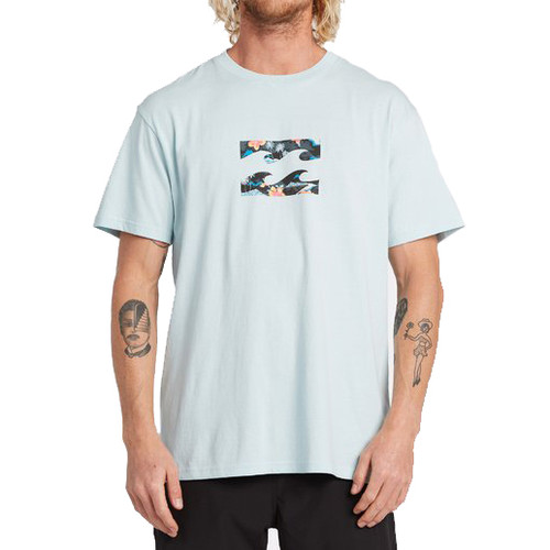 Billabong Tee Shirt - Team Wave - Coastal Blue