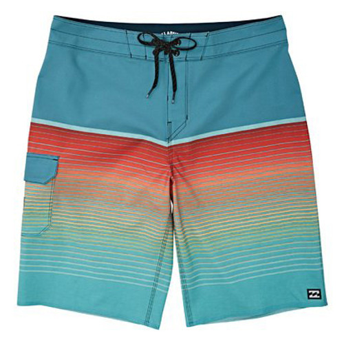 Billabong Boy's Boardshort - All Day Stripe Pro - Teal