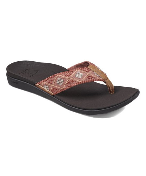 Reef Women's Flip Flop - Ortho-Bounce Woven - Coral