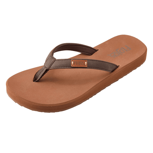 Flojos Women's Flip Flops - Billie - Brown/Tan