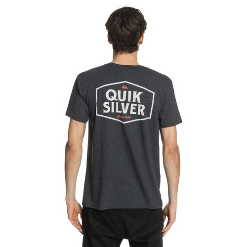 Quiksilver Tee Shirt - Empty Space - Charcoal Heather