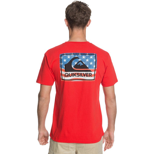 Quiksilver Tee Shirt - 4th Architexture - High Risk Red