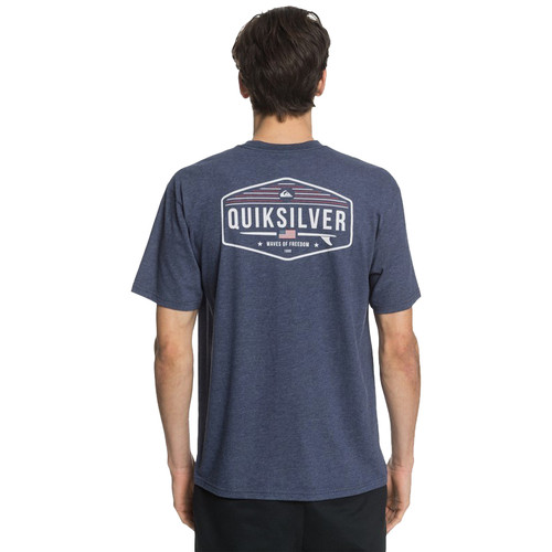 Quiksilver Tee Shirt - 4th of July - Navy Iris Heather