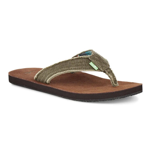 Sanuk Flip Flop - Fraid Not - Brown/Brown