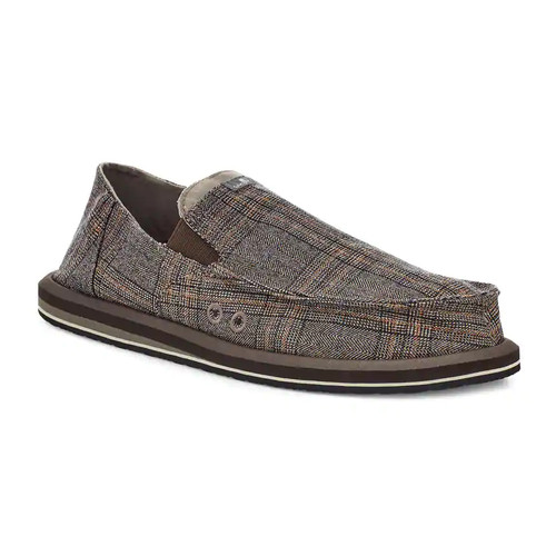 Sanuk Shoes - Pick Pocket Plaid - Brown