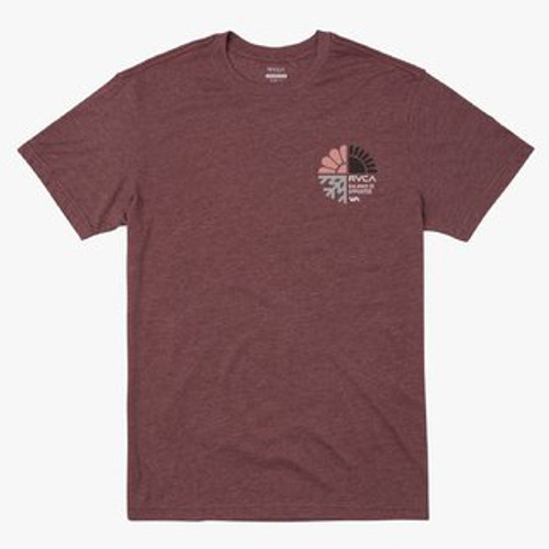 RVCA Tee Shirt - Barometer - Oxblood Red