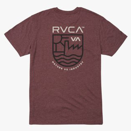 RVCA Tee Shirt - Dept Of Ind - Oxblood Red
