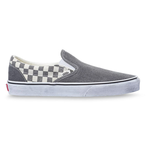 Vans Shoes - Classic Slip-On - Washed Asphalt/True White
