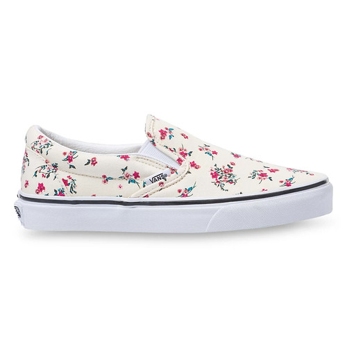 Vans Women's Shoes - Classic Slip-On - Ditsy Floral White