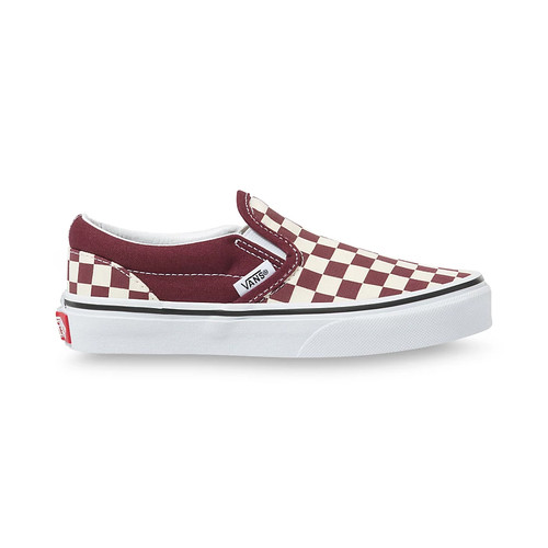 Vans Youth Shoes - Classic Slip-On - Checkerboard Port Royale/White