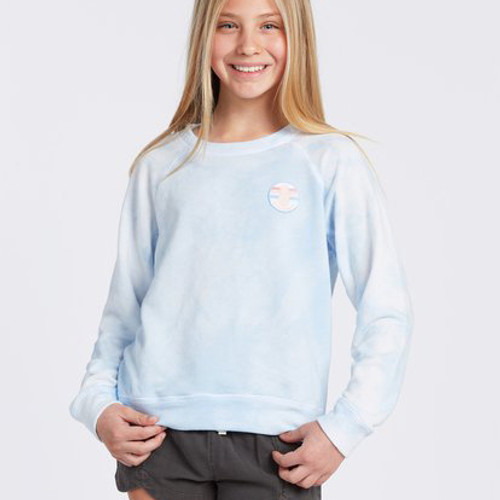 Billabong Girl's Shirt - With My Crew Sweater - Indigo Rinse