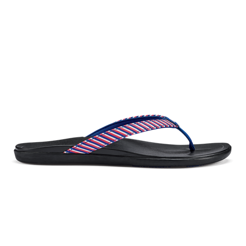 Olukai Women's Flip Flop - Ho'opio - Red Stripe