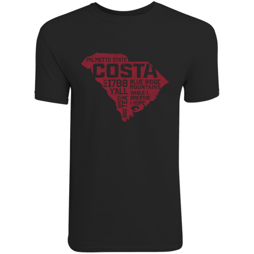 Costa Tee Shirt - Home Team South Carolina - Black