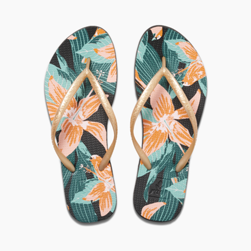 Reef Women's Flip Flop - Escape Basic Prints - Hibiscus Reef