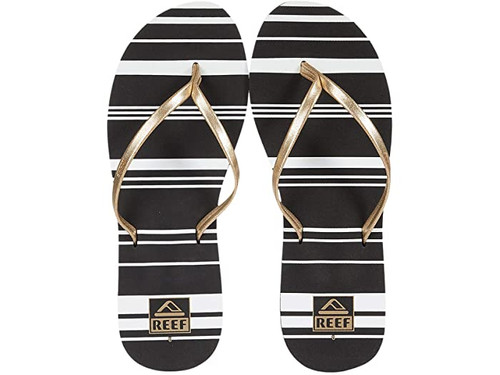 Reef Women's Flip Flop - Bliss-Full - Gold Stripe