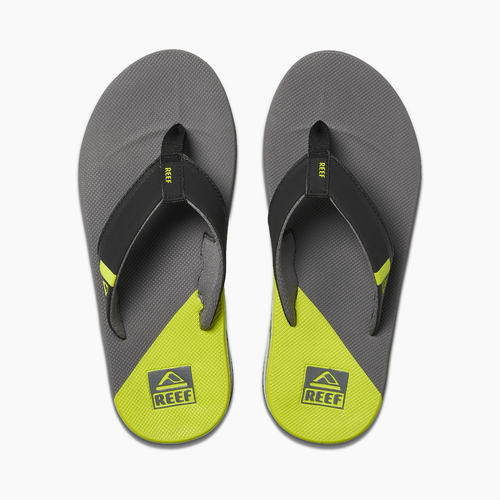 Reef Flip Flop - Fanning Low - Grey/Lime