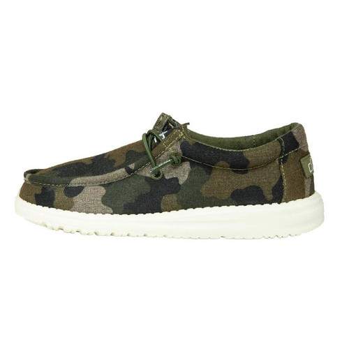 Hey Dude Youth Shoes - Wally - Camo