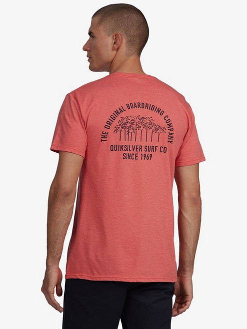 Quiksilver Tee Shirt - Patio Groove - Chili Heather