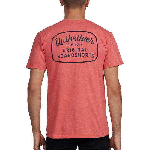 Quiksilver Tee Shirt - Rear View - Chili Heather
