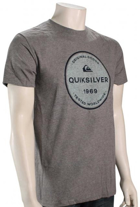 Quiksilver Tee Shirt - Go Around - Medium Grey Heather