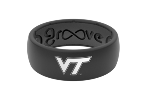 Groove Life Ring - NCAA Black/White Logo Ring - Virginia Tech