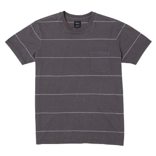 RVCA Tee Shirt - PTC Stripe II - Pirate Black