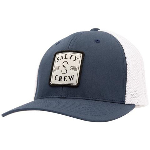 Salty Crew Hat - S-Hook Retro Trucker - Navy/White