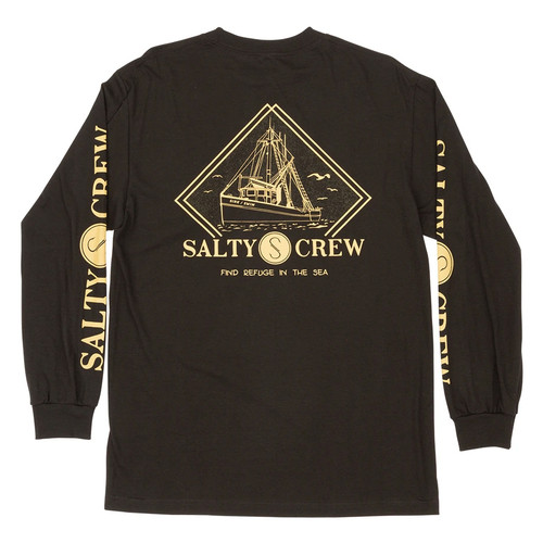 Salty Crew Shirt - Trawlin LS - Black