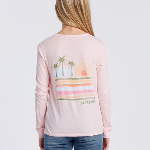 Billabong Girl's Shirt - Beach Dreams - Pink Rain