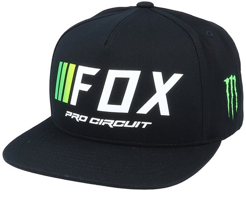 Fox Hat - Pro Circuit Snapback - Black