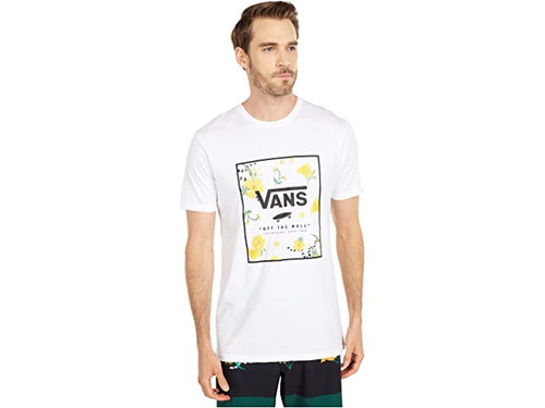 Vans Tee Shirt - Print Box - White/Super Bloom