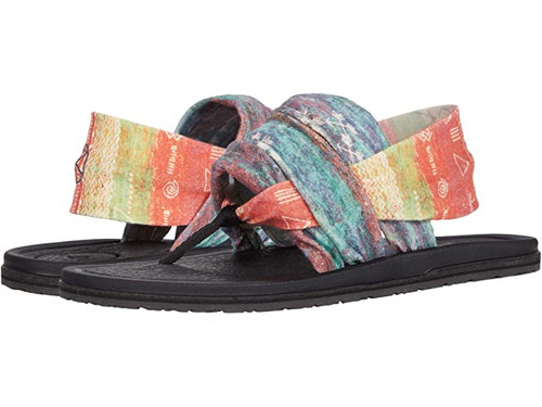Sanuk Women's Flip Flop - Yoga Sling 3 Kassia Surf - Coastal Plain Red