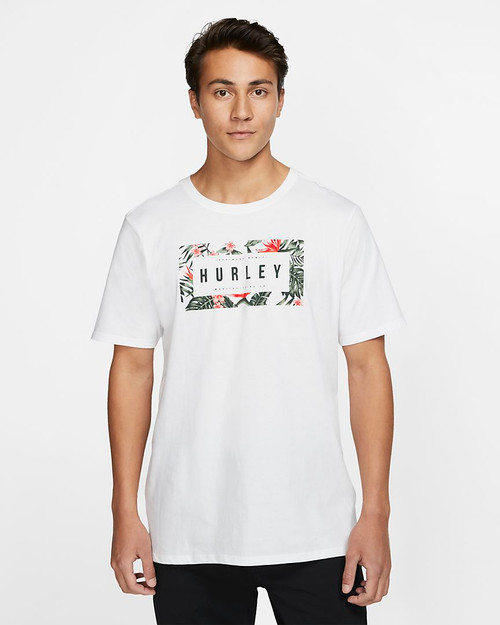 Hurley Tee Shirt - Flashback Floral - White