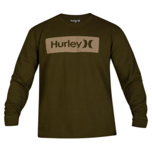 Hurley Tee Shirt - One and Only Boxed L/S - Legion Green