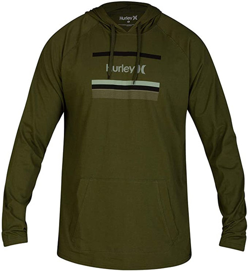 Hurley Hoody - One and Only Color Bars - Legion Green