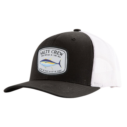 Salty Crew Hat - Pacific Retro Trucker - Charcoal Black