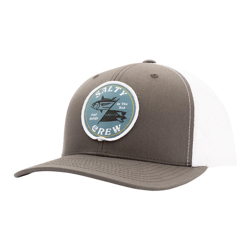 Salty Crew Hat - Double Down Retro - Charcoal/White