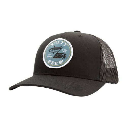 Salty Crew Hat - Double Down Retro - Black