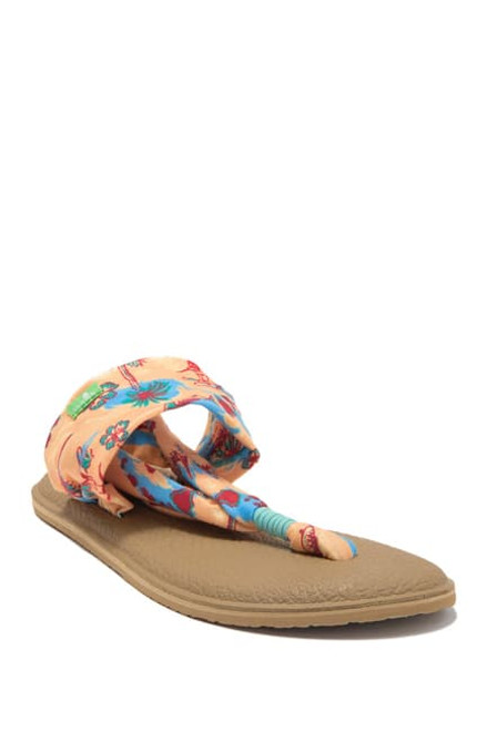 Sanuk Women's Flip Flop - Yoga Sling 2 Prints - Tropical