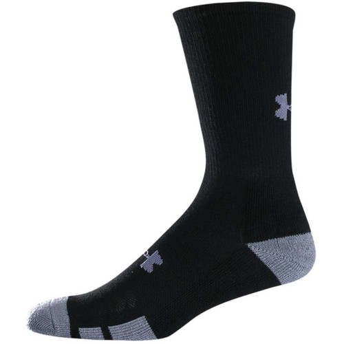 Under Armour Socks - Resistor Crew 6 Pk - Black 6 Pack