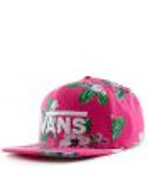 Vans Hat - Drop V II Snapback - Fuchsia Purple/Trap Floral