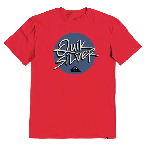 Quiksilver Boy's Tee Shirt - Into Action - High Risk Red