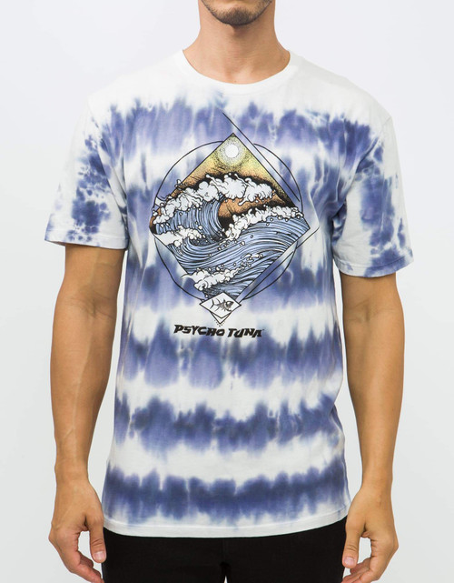 Psycho Tuna Tee Shirt - Morning Waves - Navy